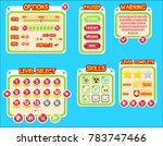 colorful bubble themed buttons  ...