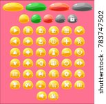 jelly themed game buttons for...