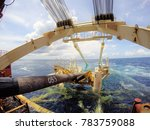 pipeline exiting pipe tunnel... | Shutterstock . vector #783759088