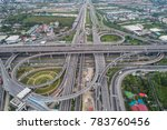 aerial day view of traffic... | Shutterstock . vector #783760456