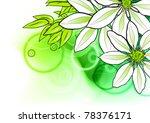 green flower on the green... | Shutterstock .eps vector #78376171