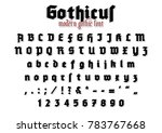 gothicus   modern gothic font | Shutterstock .eps vector #783767668