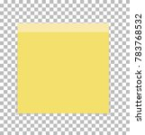post note paper sheet or sticky ...   Shutterstock .eps vector #783768532