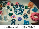 abstract models printed by 3d...   Shutterstock . vector #783771376