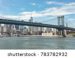 view of the brooklyn and... | Shutterstock . vector #783782932