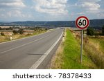 road sign for the maximum speed ... | Shutterstock . vector #78378433
