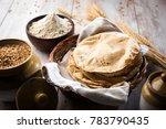 indian chapati   fulka or gehu... | Shutterstock . vector #783790435