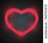 neon heart. bright heart. retro ...   Shutterstock .eps vector #783792472