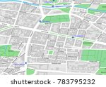 vector map of berlin city... | Shutterstock .eps vector #783795232