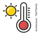 weather thermometer vector icon | Shutterstock .eps vector #783796426