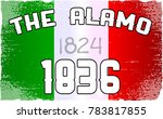 the flag as flown at the alamo... | Shutterstock .eps vector #783817855