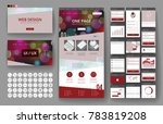 website template  one page... | Shutterstock .eps vector #783819208