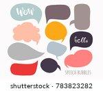 various speech bubbles. hand... | Shutterstock .eps vector #783823282