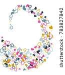 heart shape outline love... | Shutterstock .eps vector #783827842