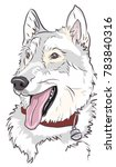 siberian husky dog puppy smiley ... | Shutterstock .eps vector #783840316