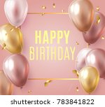 holday card with party pink and ... | Shutterstock .eps vector #783841822