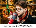 handsome positive beard man... | Shutterstock . vector #783850426