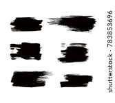 set of black ink strokes  brush ... | Shutterstock .eps vector #783853696
