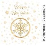 happy new year. vector card.  | Shutterstock .eps vector #783855148