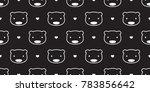seamless pattern bear polar... | Shutterstock .eps vector #783856642