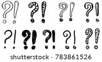 exclamation marks and question... | Shutterstock .eps vector #783861526