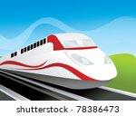 fast train vector illustration