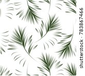 tropical palm leaves  jungle... | Shutterstock .eps vector #783867466