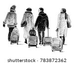 city dwellers go to vacation | Shutterstock . vector #783872362