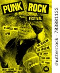 punk rock flyer poster template | Shutterstock .eps vector #783881122