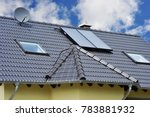 solar collectors and aerial... | Shutterstock . vector #783881932