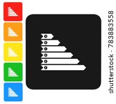 efficiency chart icon sign 3d...   Shutterstock . vector #783883558