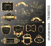 dark tone vintage label tags... | Shutterstock .eps vector #78388510