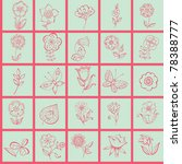 decorative floral seamless... | Shutterstock .eps vector #78388777