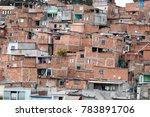 shacks in the favela  illegal... | Shutterstock . vector #783891706