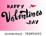 happy valentines day card ... | Shutterstock .eps vector #783893452