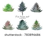 vector illustration. fir tree... | Shutterstock .eps vector #783896686