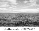 calm waves of the ocean to the... | Shutterstock . vector #783899692
