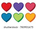 flat heart six pack | Shutterstock .eps vector #783901675