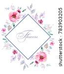 delicate bouquets of watercolor ...   Shutterstock . vector #783903205