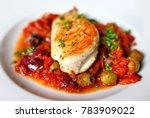 mediterranean chicken breast... | Shutterstock . vector #783909022