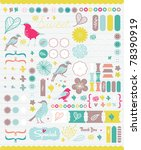 scrapbook collection for party  ... | Shutterstock .eps vector #78390919