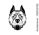 american staffordshire terrier... | Shutterstock .eps vector #783923782