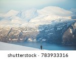 tiny skier soaking up the... | Shutterstock . vector #783933316