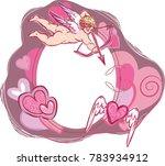 st. valentine's day cupid... | Shutterstock .eps vector #783934912