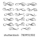 set of decorative elements.... | Shutterstock .eps vector #783951502
