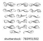 set of decorative elements.... | Shutterstock .eps vector #783951502