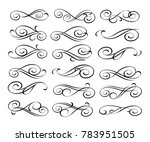 set of decorative elements.... | Shutterstock .eps vector #783951505