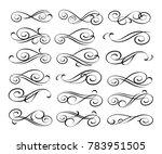 set of decorative elements.... | Shutterstock .eps vector #783951505