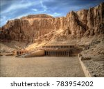 the mortuary temple of...   Shutterstock . vector #783954202
