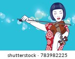 vector beautiful lady chinese... | Shutterstock .eps vector #783982225
